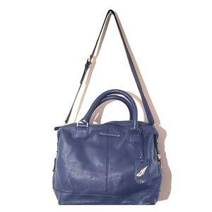 Blue DVF leather Drew  Doctor satchel bag